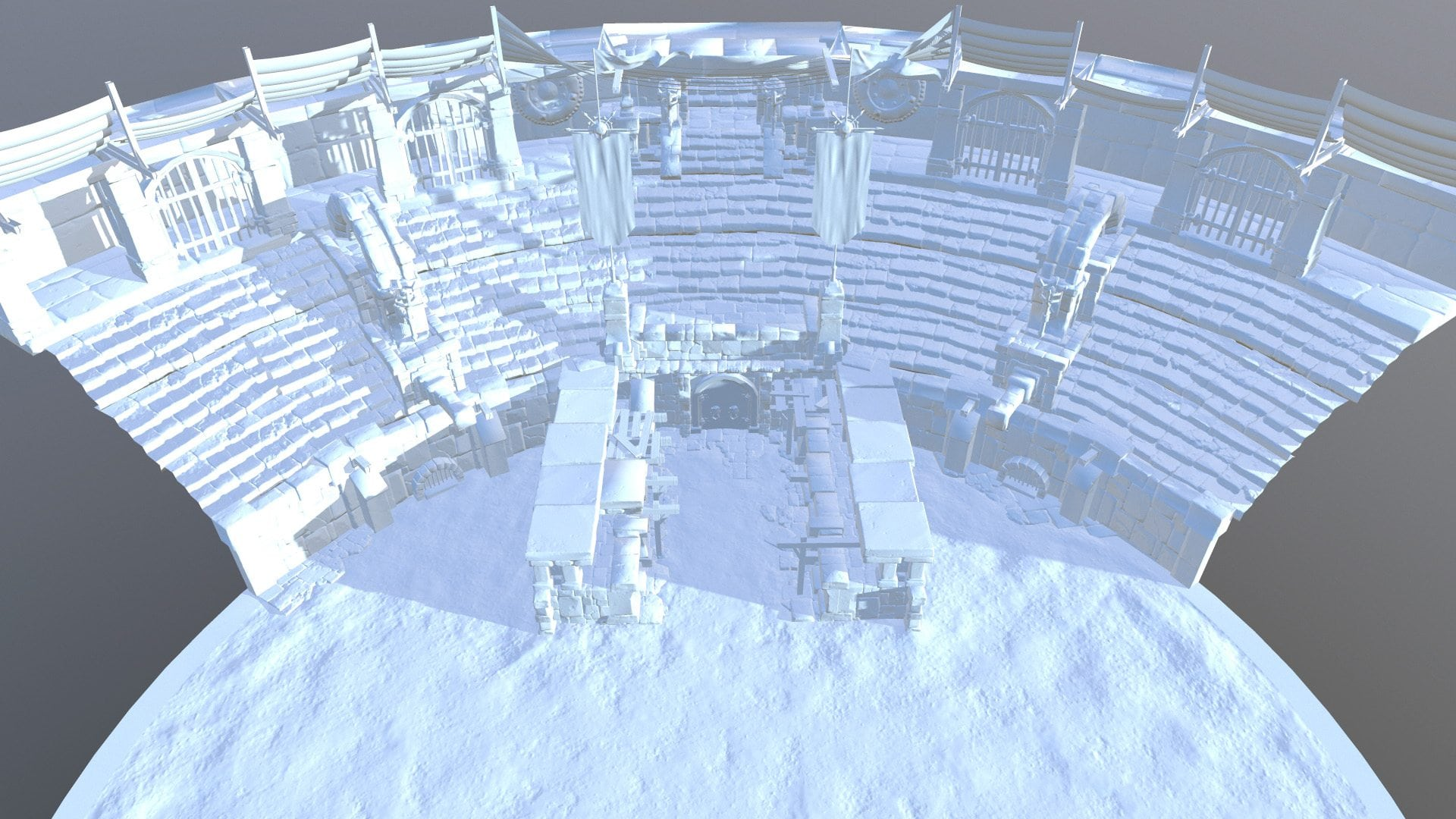 Image 02 - initial size of the arena