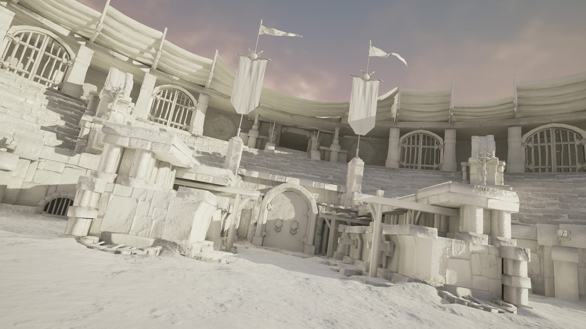 Image 04 - scene assembled in Unreal Engine; immediately showing more depth and atmosphere