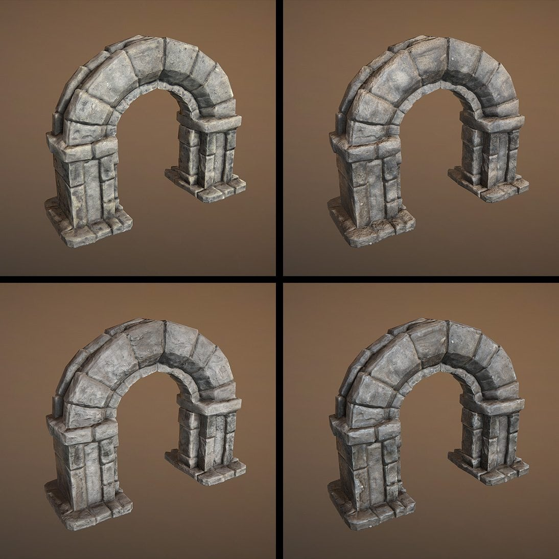 Image 10 - look development for the stone material