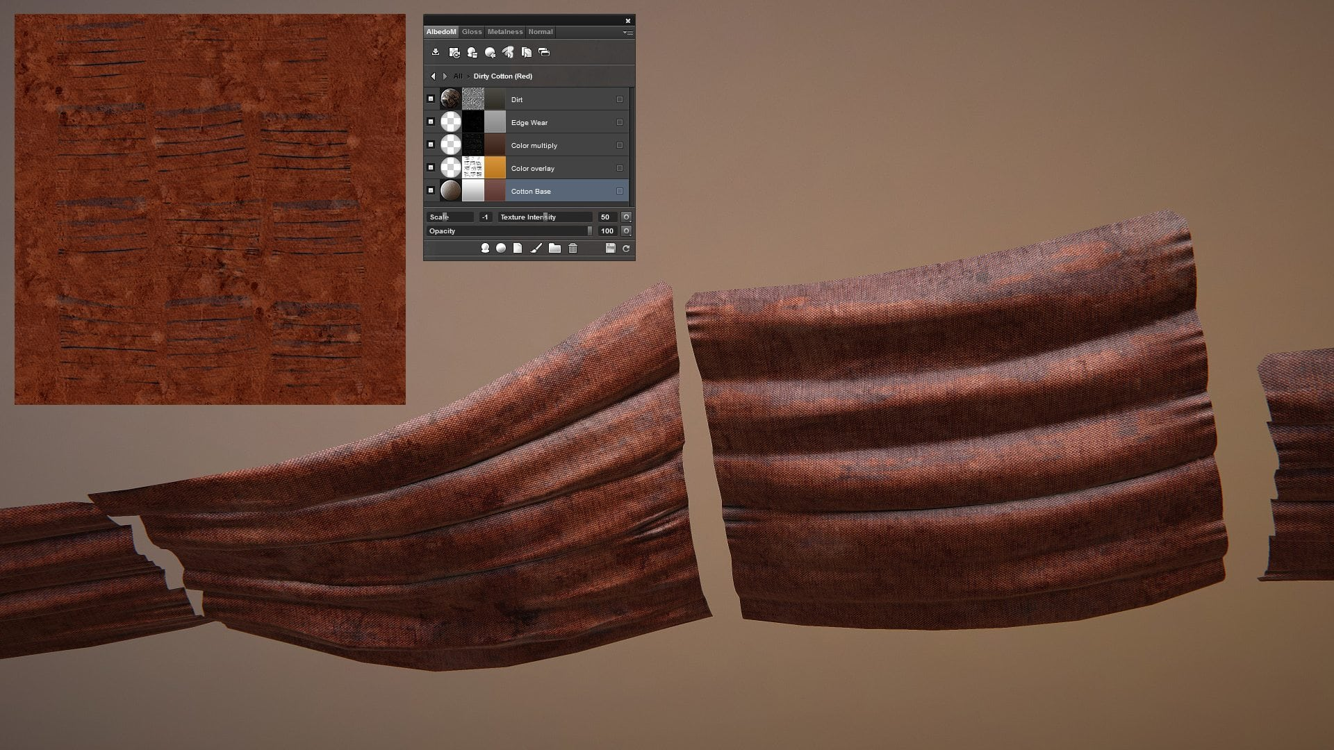 Image 13 - cloth material used on the shades and final diffuse map